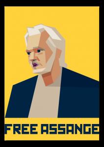 retrato de Julian Assange, retrato de Julian Assange, portrait of Julian Assange